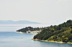 Oyster farms in a bay of the Mediterranean Sea Stock Images