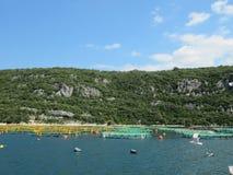 Oyster farms. Europe Croatia stock image