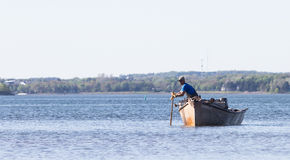 Oyster Fishing Royalty Free Stock Photo