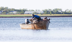 Fishermen Raking Royalty Free Stock Photos