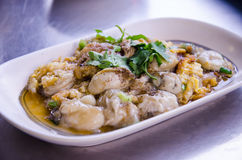 Oyster fried. Or oo-suan in thai Stock Photography