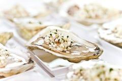 Oyster half shell Stock Photos
