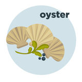 Oyster icon. Seafood vector illustration Royalty Free Stock Photo