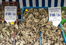The oyster market , Brittany,Cancale - centre for oyster farming Stock Photos