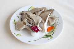 Oyster mushroom. Hot pot dishes oyster mushroom Stock Images