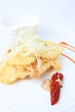 Oyster mushroom beignettes food Royalty Free Stock Image