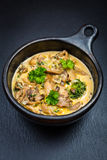 Oyster mushroom soup. With vegetables Stock Photography