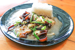 Oyster mushroom or stir fried mushroom Royalty Free Stock Photo
