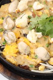 Oyster omelet fire with egg Stock Image