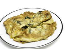 Oyster Omelet Fire With Egg Stock Images
