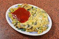 Oyster omelet. The Taiwan distinctive traditional snack of oyster omelet Stock Photography