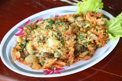 Oyster Omelette Royalty Free Stock Photography
