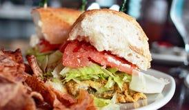 Oyster Po' Boy Sandwich Stock Photo
