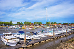 Oyster port of La Teste, Bassin d`Arcachon, France Stock Photography
