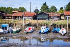 Oyster port of La Teste, Bassin d`Arcachon France Stock Photo