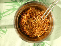 Oyster sauce flavor lo mein noodles Royalty Free Stock Images