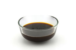Oyster sauce. On white background Royalty Free Stock Photography