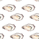Oyster - seafood and marine cuisine. Seamless Stock Photo