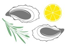Oyster. Seafood Royalty Free Stock Photography