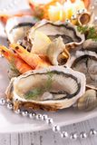 Oyster, shrimp and shellfish Royalty Free Stock Image