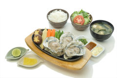 Oyster Steak Set Royalty Free Stock Image