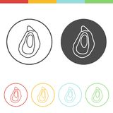 Oyster vector icons Stock Images