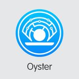 Oyster - Cryptocurrency Coin Pictogram. Stock Photos