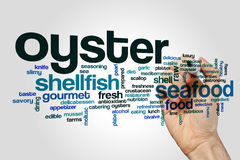 Oyster word cloud concept Stock Photos