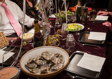 Oysters and champagne party Royalty Free Stock Photos