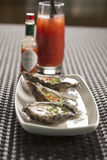 Oysters with chilli & ginger Royalty Free Stock Photos