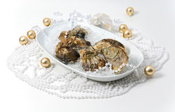 Oysters Decorated Stock Photography