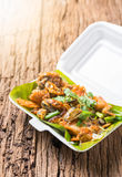 Oysters fried - crispy mussel with bean sprout, Crisp fried oyst Royalty Free Stock Images