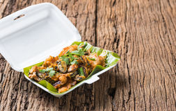 Oysters fried - crispy mussel with bean sprout, Crisp fried oyst Stock Image