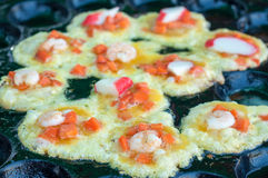 Oysters fried in egg batter Royalty Free Stock Photography