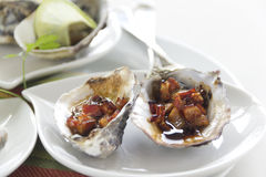 Oysters Kilpatrick Royalty Free Stock Photography