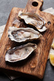 Oysters and lemon Stock Image