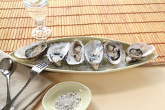 Oysters Natural Stock Photos