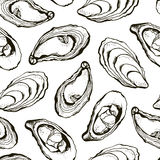 Oysters pattern Stock Photo