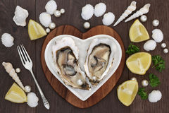 Oysters and Pearls Stock Images