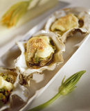 Oysters Rockefeller with Squash Royalty Free Stock Photography