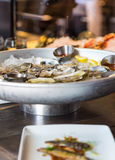 Oysters in Seafood Restaurant Royalty Free Stock Photography