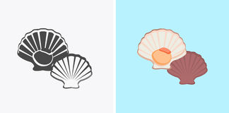 Oysters Variations Vector Illustration Royalty Free Stock Image