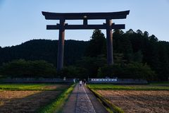 Oyunohara torii gate royalty free stock photography