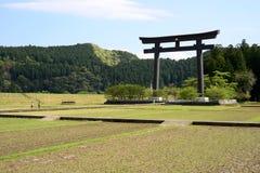 Oyunohara Torii, Kumano Kodo, Japan Arkivfoto