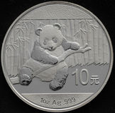 1oz de prata chineses AG de Panda Coin Foto de Stock