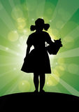 Oz sparkles dorothy. Dorothy approaching sparkling emerald city Stock Photography