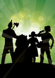 Oz sparkles group. Dorothy and company approaching emerald city Royalty Free Stock Photos