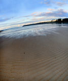 Oz tide. Tallabudgera Creek Tide, Queensland Australia stock photo