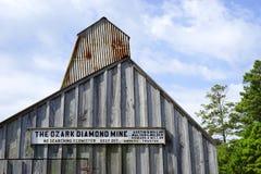 Ozark-Diamantbergwerk - Nahaufnahme Lizenzfreie Stockfotografie