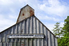 Ozark diamond mine - closeup. The 'Star of Arkansas' was found at the Ozark Diamond Mine diamond field and weighed 15.33 carats (3.066 g Royalty Free Stock Photography